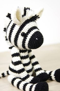 With the help of this written crochet pattern youll be able to make your own cute zebra, 4-way jointed using plastic doll joints (or buttons and thread), with moving arms and legs. Includes one PDF file, 19 pages. Pattern is written in English, using US crochet terminology. I included
