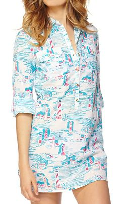 Lilly Pulitzer Captiva Tunic Cover-Up in Watch Out