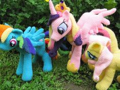Rainbow Dash Pattern My Little Pony by NerdyKnitterDesigns