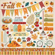 Autumn Cardstock Stickers 12X12 ** Click on the image for additional details.(It is Amazon affiliate link) #dc