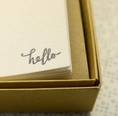 Letterpress correspondence cards available at DOWSE