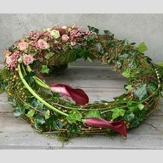 Any Floral design request can be done. Your imagination is the limit! Send us request now for possible discounts that stand! Funeral Flower Arrangements, Funeral Flowers, Deco Floral, Arte Floral, Floral Design, Grave Decorations, Flower Decorations, Funeral Sprays, Driftwood Wreath