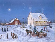 Prairie Christmas Framed Artcard   Yvette Moore Gallery of Fine Arts