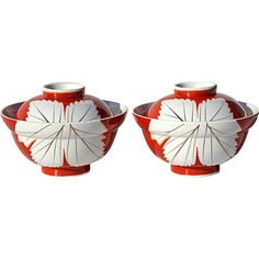 Vintage Pair Of Japanese Porcelain Covered Soup Bowls @Stephen A. Kramer Ltd.on Ruby Lane