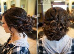 Hair and Make-up von Steph: Hinter dem Stuhl X, Wedding Hair And Makeup, Bridal Hair, Hair Makeup, Fancy Hairstyles, Wedding Hairstyles, Wedding Updo, Homecoming Hairstyles, Bridesmaid Hair, Bridesmaids