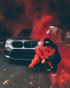 BMW with hot red colour Bmw M4, Suv Bmw, Smoke Bomb Photography, Car Photography, Fiat Abarth, Images Lindas, Bmw Motorsport, Luxury Boat, Luxury Cars