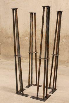 Metal Table Leg 28 Set of 4 Legs ReBar by nakedMETALstudio