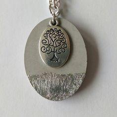 Cement Jewelry, Resin Jewelry, Diy Jewelry, Jewelry Gifts, Jewelery, Jewelry Making, Diy Schmuck, Schmuck Design, Concrete Crafts