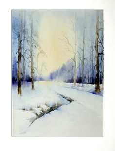 Landscape watercolour by Michel Malengreau