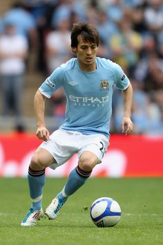 David Silva of Spain and Manchester City