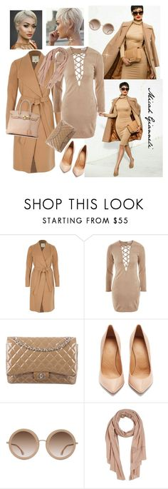 """""""Micah-Think Beige for Fall"""" by dobesht ❤ liked on Polyvore featuring River Island, WYLDR, Chanel, Maison Margiela, Alice + Olivia, Ermanno Scervino and Hermès"""