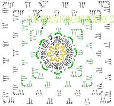 Cuadro de Abuelita o Granny con Flor en 3D ~ Tutorial | Todo crochet