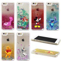Dernières Populaire Lilo & Stitch Ourson Mignon de Bande Dessinée Liquide Quicksand Étoiles Étincelle Cas Pour iPhone 4 4S 5 5S 5C