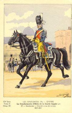 French; Imperial Guard, Gendarmes d'Elite, Gendarme, Grande Tenue de Service 1805-15