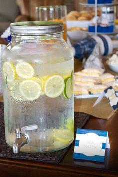Love this idea for a drinks dispenser- huge mason jar