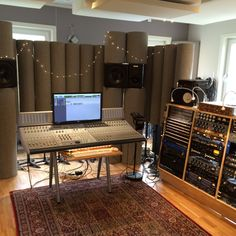 acoustic rolls, could base on a fancy block of wood. Best served as first reflection absorbers (the sides of the room) Wood Blocks, Desk, Studio, Table, Acoustic, Furniture, Reflection, Room Ideas, Rolls