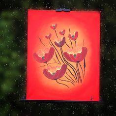 Abstrakte Mohnblumen