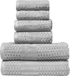 Micro Lush Light Gray Diamond Dobby Bath Towel