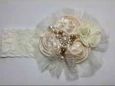 Tiara de rosas con perlas Creaciones Rosa Isela VIDEO No. 233 - YouTube