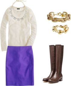 """purple skirt"" by gardekm on Polyvore"