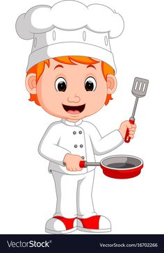 Cartoon funny chef holding frying pan vector image on VectorStock Community Helpers Worksheets, Community Workers, Flashcards For Kids, Islamic Cartoon, Up Theme, Baby Clip Art, Lol Dolls, Colorful Drawings, Funny Cartoons