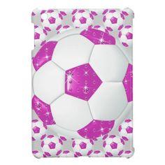 Diamond Gemstones Hot Pink Soccer Ball iPad mini cases!  http://www.zazzle.com/diamond_gemstones_hot_pink_soccer_ball-256264710464817630?rf=238575087705003771