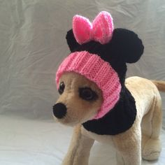 Pet Clothes Apparel Outfit Crochet Minnie Mouse Hoody by 2CROWNS