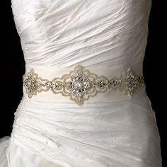 Pearl & Rhinestone Beaded Wedding Sash Bridal Belt White or Ivory Wedding Dress Sash, Wedding Belts, White Wedding Dresses, Bridal Belts, Bridal Gown, Weeding Dresses, White Weddings, Wedding Attire, Wedding Jewelry