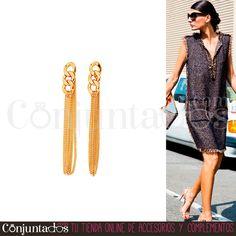 Elegantes, sencillos y discretos. Así son los #pendientes dorados Chains. Ideales para todo el año ★ Precio: 11,95 € en http://www.conjuntados.com/es/pendientes-dorados-chains.html ★ #novedades #earrings #conjuntados #conjuntada #joyitas #jewelry #bisutería #bijoux #accesorios #complementos #moda #fashion #fashionadicct #picoftheday #outfit #estilo #style #GustosParaTodas #ParaTodosLosGustos