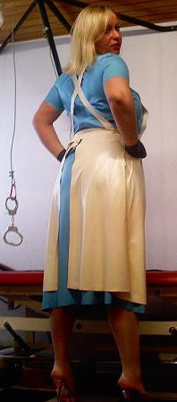 Menotteuse Plastic Aprons, Pvc Apron, Latex Fashion, Blouse, Female, Sexy, Skirts, Leather, Change