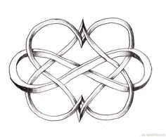 Cool Double Heart Infinity Tattoo Design ❥ http://bestpickr.com/matching-couples-tattoos