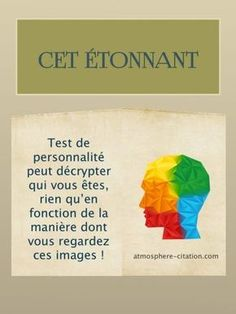 Here is a test that determines your personality. This amazing personality test . - - Here is a test that determines your personality. This amazing personality test can decipher who you are, just by the way you look at these images! Super Dieta, Meditation, Positive Attitude, Self Development, Personal Development, Affirmations, Voici, Coaching, Stress