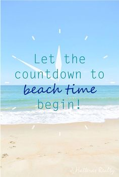 Let the countdown to beach time begin!