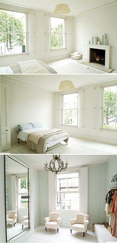 mirror!  cream beige white