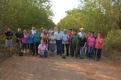 El Alcalde Óscar Almaraz Smer en gira por la zona rural de Victoria activó el programa de Empleo Temporal