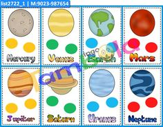 Planets Anywhere 2 in theme Planets as Designer Kukuba under Kukuba Tambola Game, Paper Games, Cat Party, Party Props, Full House, Color Card, Mercury, Venus, Planets