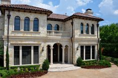 Architectural Cast Stone Entry Way Design, Balustrade System. Window Surronds, Banding for a Residential Home