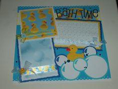 bath 1 | Baby Boy Scrapbook Pages