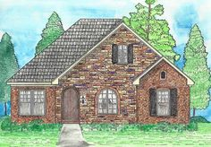 House Plan 74730 | Cottage European Southern Traditional Plan with 1753 Sq. Ft., 3 Bedrooms, 2 Bathrooms, 2 Car Garage