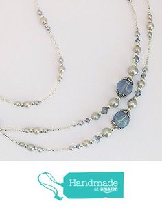 Beaded Lanyards, Grey Glass, Id Holder, Swarovski Crystals, Badge, Beaded Necklace, Jewellery, Amazon, Chain