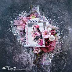 Mary's Crafty Moments: ''Pretty me...'' - DT Layout for Crafty Life
