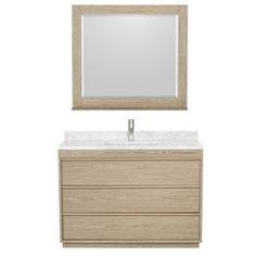 $1,550 Wyndham Collection Naya 48-inch Ash Grey Single Vanity | Overstock.com Shopping - The Best Deals on Bathroom Vanities