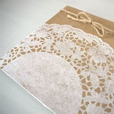 How to make rustic, pretty stationery using paper doilies! #craftgawker