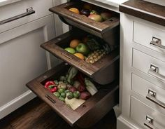 Dry storage vegetable drawers. Perfection! #cultivateit