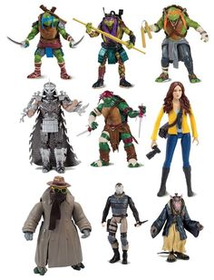 DEOOXXX Official Pic of TMNT Movie Toys – Turtles, Shredder, Splinter and More #tmnt