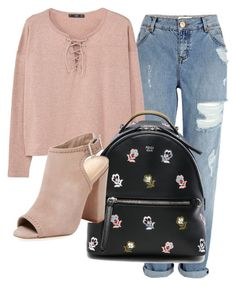 """""""Alya's"""" by aliyahelghamry on Polyvore featuring River Island, MANGO, Fendi and Schutz"""