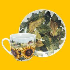 Espresso Coffee Cup | Sunflowers