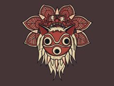 Mandala Spirit T-Shirt - Princess Mononoke T-Shirt is $15 at TeeFury!