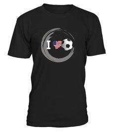Soccer Heart American Flag u.s shirt