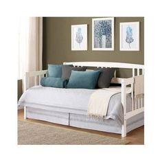 Daybed Twin Solid Wood Bed Frame Furniture White Spare Bedroom Guest Sofa Couch